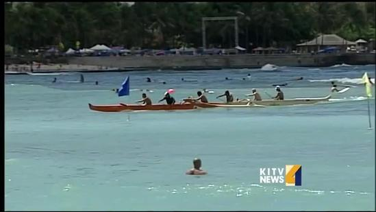 Eighth leg of Na Ohana O Na Hui Wa'a racing season takes place in Waikiki.