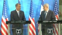 """Israeli PM hosts Boehner, calling for """"better"""" Iran deal"""