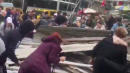 Video Shows New Yorkers Rushing To Free People Trapped Under Scaffolding