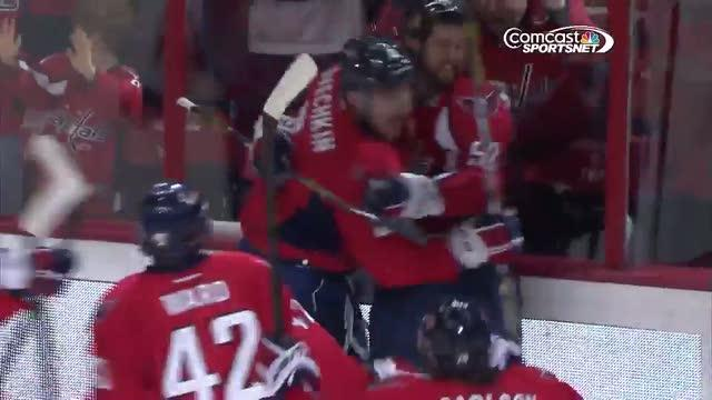 Alex Ovechkin ties it in the final minute