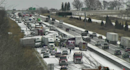 Snowy 50-vehicle pileup leaves 1 seriously injured, blocks Iowa highway for hours