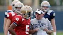 Notre Dame QB Not Worried About Layoff