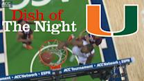 Miami's Rion Brown Serves Erik Swoope a Vicious Alley-Oop