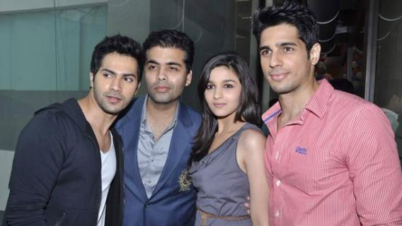 Karan grooves with his 'students' on 'Radha'