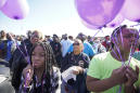 Hundreds rally as 7-year-old girl's killer remains at large