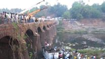 37 killed as Mumbai-bound bus falls into river