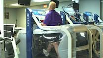 Treadmill instantly sheds 80% of your weight
