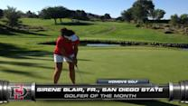 Mountain West Men's & Women's Golfers of the Month
