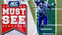 Duke's David Reeves Tip-Toes Near The Sideline For Touchdown | ACC Must See Moment
