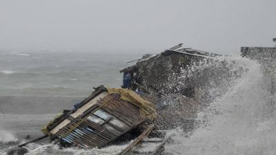 One of the Strongest Storms Blasts Philippines