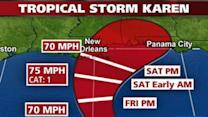 Tropical Storm Karen Brews Near Gulf Coast