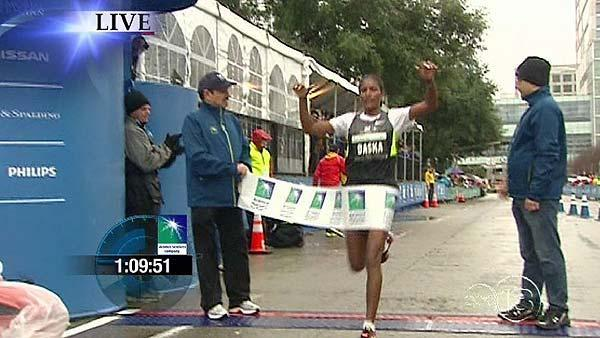 Mamitu Daska won the women's half marathon