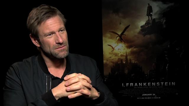 Aaron Eckhart on transforming for 'I, Frankenstein'