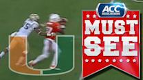 Miami's Ladarius Gunter Seals Win With Pick-6 | ACC Must See Moment
