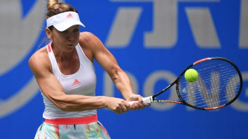 Halep knocked dizzy at Wuhan Open