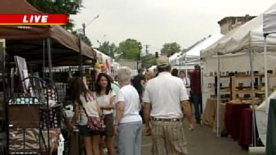 Shoppers Turn Out In Droves For Canton Flea Market