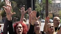 Raw: Cyprus Delays Key Vote, As Protests Ensue