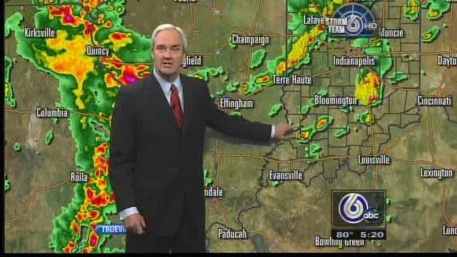 Severe Weather Warnings Extend Through Central Indiana