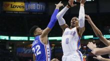 Russell Westbrook made more triple-double history with a perfect shooting night