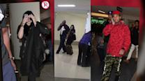 Kylie Jenner And TYGA Keep Their Love on The Down Low At LAX