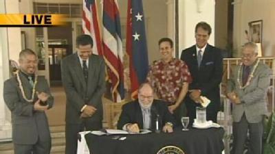 Raw: Gov. Signs Civil Union Bill
