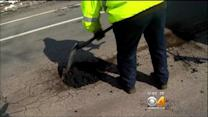 Crews Rush To Fill Potholes Before The Next Storm