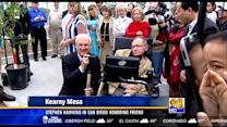 Stephen Hawking in San Diego honoring friend