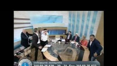 Greek far-right politician slaps rival on TV