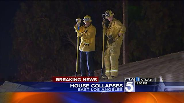 House Collapses in East L.A.