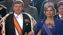 Prince Charles Looks On As Dutch Prince Becomes King