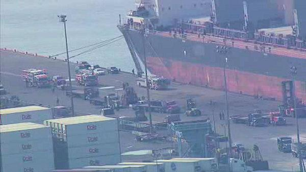 Worker hit by coil, falls 70 feet at Port of Wilmington
