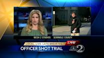Officer testifies about night he was shot