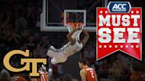 Crazy Sequence Leads to Back-to-Back Alley-Oops for Georgia Tech   ACC Must See Moment