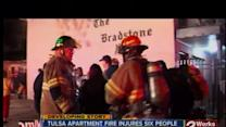 6 injured in Tulsa apartment fire