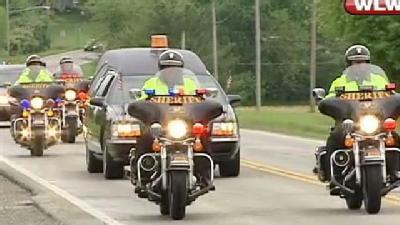 Funeral Procession For Sgt. Brian Dulle