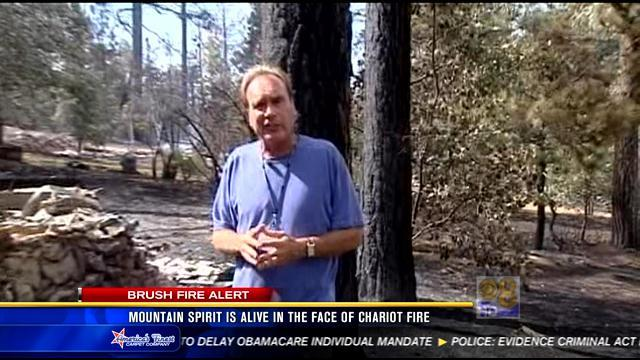Mountain spirit is alinve in the face of the Chariot Fire