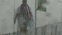 Raw: US World Cup Fans Trek Through Downpour