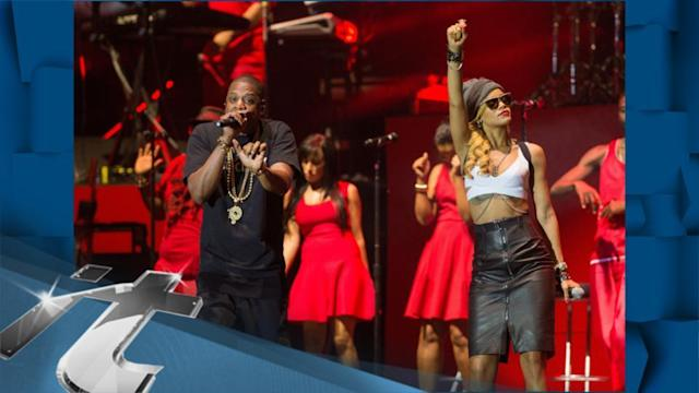 United Kingdom Breaking News: Rihanna Surprises Fans By Joining Jay-Z Onstage At Wireless Fest!