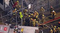 LA church fire: 3 firefighters injured battling blaze