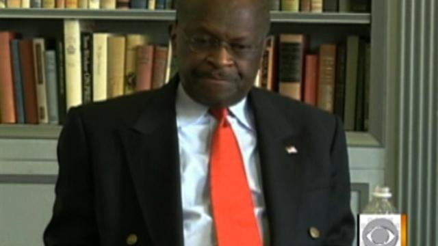 Cain takes long pause on Libya question