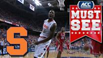 Big Time Alley-Oop From Syracuse's Jerami Grant to Rakeem Christmas | ACC Must See Moment