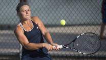 Jenny Jullien of Saint Mary's Talks Day Two of the WCC Tennis Championships