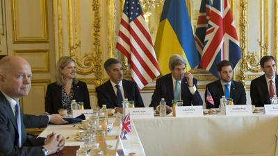 Foreign Ministers Meet on Ukraine, Sans Russia