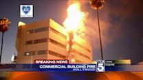 Firefighters Battle Blaze at Sunset Blvd. Commercial Building