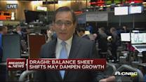 Draghi: Balance sheet shifts may dampen growth