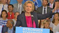 Hillary Clinton Shares Story of Her Hard-Working Parents at Raleigh Rally