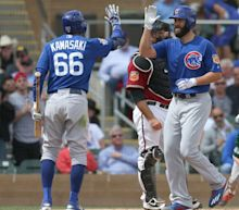 Jake Arrieta hit a 465-foot home run during Cubs spring training
