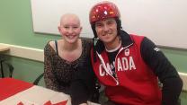 Helmet inspires cancer patient, Olympic skier