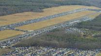 Superstorm Sandy turns airport into auto graveyard