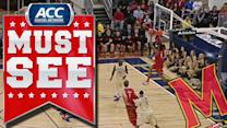 Maryland's Nick Faust Sneaks Behind Defense For Alley-Oop | ACC Must See Moment